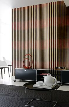 #Tempo from #Elitis is a stylish, elegant collection of #stripes in varying scales with a versatile #colour palette. #Wallcoverings from Tempo, Elitis, Goodrich
