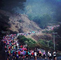 THE neverending hill...Nike Women's Marathon San Fran.