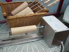 kürtőskalács sütés.wmv - YouTube