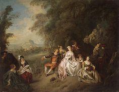 Concert Champêtre  Jean Baptiste Joseph Pater  (French, Valenciennes 1695–1736 Paris)  Date: ca. 1734