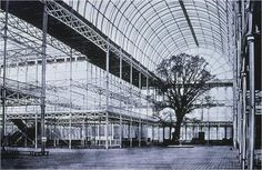 Crystal Palace, London, Joseph Paxton, The Great Exhibition of 1851 // prefabricated glass and cast iron structure, without precedent, one third mile long, million square feet