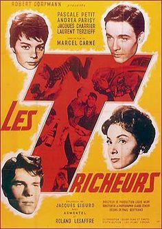 """""""Les tricheurs"""" de Marcel Carné avec Laurent Terzieff, Pascal Petit, Jacques Charrier, Dany Saval, P.P Belmondo, A. Parisy"""