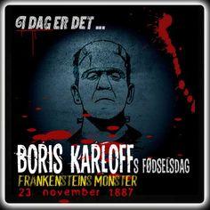 Boris Karloff ville være blevet 128 år i dag.  http://www.mxrket.dk/nov23-Boriskarloff.html