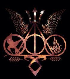 (Multi-Fandom) + (symbols) + (Percy Jackson, HP, THG, TMI, Divergent)