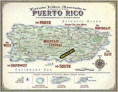 Puerto Rico Map (Island Regions)