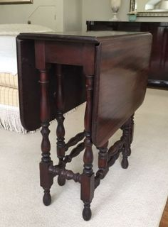 Antique Gate Leg Drop Leaf Table With Hidden Drawer We Have Two - Antique gateleg tables