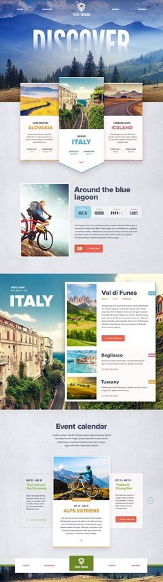 Travel website design #webdesign #inspiration #layout #travel