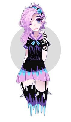 pastel goth rabbit drawing - Google Search