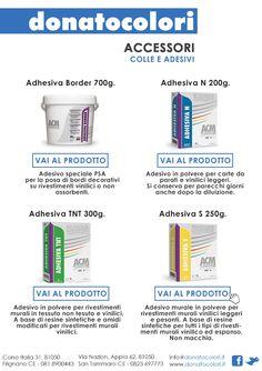 Newsletter n°11 - Donato Colori Accessori: COLLE E ADESIVI