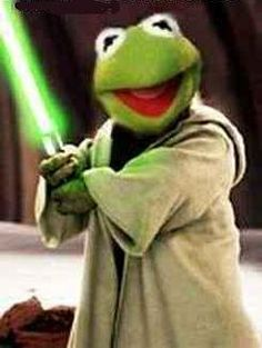 Kermit The Frog as Master Yoda Though small and seemingly Fragile is on the other hand Possibly the most powerful of the Jedi. Funny Kermit Memes, Cartoon Memes, Funny Relatable Memes, Kermit And Miss Piggy, Kermit The Frog, Jim Henson, Sapo Kermit, Reaction Pictures, Funny Pictures
