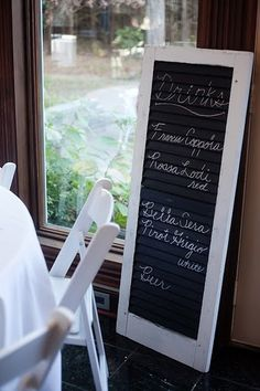 I am still looking for a window shutter for my drink list.