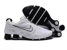 d51722372c8a Mens Nike Shox Turbo12 Tennis Shoes White Black SX-191 via Polyvore Nike  Shox