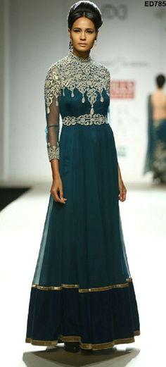 Shimmering Design Long Kameez Wonderful Designer by Ethnicdresses, $190.69