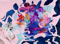 Buy ARMORED ROSE, a Acrylic on Canvas by Irina Rosenfeldt from Argentina. It portrays: Fantasy, relevant to: pink, blues, water, multicolor, bigsize, flowers, fluorescent Flowers as a wide open symbolism.  Though the meaning does not wear out at first glance.  Elements from nature not shown as such, but as pure energy source of color.  Big format-size to chanalize the happiness that comes from colors, powerful vibrato, highly saturated thus generating a vibrant euphoria that does not calm…