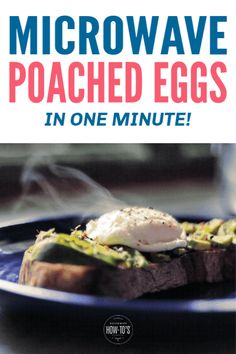 Yes, you CAN poach eggs in the microwave and it takes just one minute! #housewifehowtos #poachedeggs #eggs #breakfast #microwavecooking