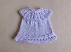 This sweet little dress is now in three premature baby sizes ~ small, medium and large Lazy Daisy All-in-One Baby Dresses ~ . Baby Cardigan Knitting Pattern Free, Baby Hats Knitting, Baby Knitting Patterns, Baby Patterns, Free Knitting, Knitting Dolls Clothes, Baby Doll Clothes, Doll Clothes Patterns, Dress Patterns