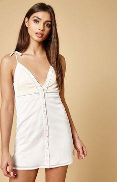 17ddfc760663 New Pacsun x NightWalker Womens Brown Mesh Polyester White Rumor Dress Sz  Medium