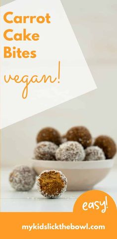Carrot oat energy bites or bliss balls healthy no bake nut-free energy ball for kids and a perfect healthy lunchbox treat lunchbox blissball vegan energybite Healthy Meals For Kids, Healthy Baking, Kids Meals, Healthy Snacks, Healthy Girls, Energy Balls Nut Free, Energy Bites, Healthy Christmas Treats, Bliss Balls