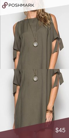 Cold Shoulder Shift Dress So new, you can only find it here! Be a season ahead of the game! Cali Blue Shop Dresses Mini