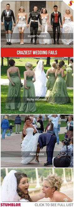 Here Are Some Funny Wedding Fails Photos Captured In Public