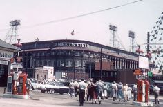 Across the street from the main entrance to Ebbets Field, home of the Brooklyn Dodgers.