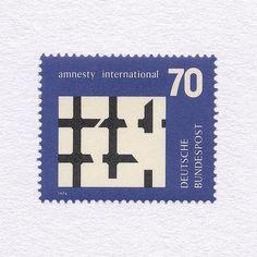 Amnesty International (70). Germany, 1974. Design: Christof Gassner #mnh #graphilately
