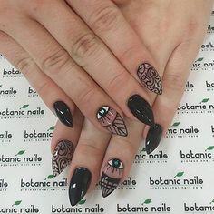 Cool Black Nail Art