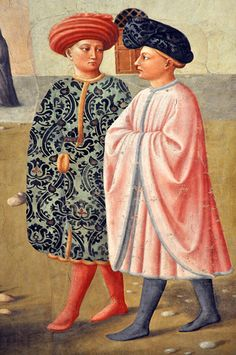 Masolino da Panicale (1383-1440) ~ Healing of the Lame Man and Raising of Tabitha (detail) ~ Brancacci Chapel, in the Church of Santa Maria del Carmine, Florence ~ 1424 ~ Masolino da Panicale was an Italian painter. His best known works are probably his collaborations with Masaccio: Madonna with Child and St. Anne and the frescoes in the Brancacci Chapel.