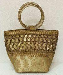 Antiq colour  Designer Clutches : Tejal Collection -  YF-40817