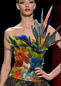 Milagros Schmoll, Jean Paul Gaultier Couture F/W 2011 Couture Mode, Style Couture, Couture Fashion, Runway Fashion, Fashion Art, High Fashion, Fashion Show, Fashion Design, Couture Details