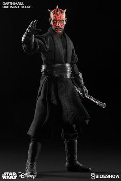Star Wars Darth Maul Duel on Naboo Sixth Scale Figure by Sideshow Collectibles Star Wars Jedi, Coleccionables Sideshow, Sideshow Collectibles, Darth Maul Kostüm, Star Wars Figurines, Stargate, Military Action Figures, Star Wars Models, War Film