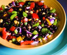 This salad is a great side dish for Mexican entrées or can be used as a dip for tortilla chips to start the meal. Use the measurements as a guide, but feel free to tinker. Remember this salad when you have leftover corn on the cob.
