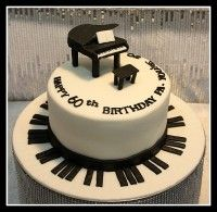 Piano cake Picture from Cakes. Music Themed Cakes, Music Cakes, Theme Cakes, Cupcakes, Cupcake Cakes, Cake Icing, Fondant Cakes, Piano Cakes, Cake Pops