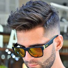 Fresh New Haircut - Fade with Side Swept Hair