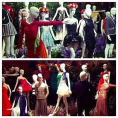 Designer costumes on display at the New York City Ballet 2016 Fall Gala. Celebrating five years of Ballet and Fashion. @nycballet