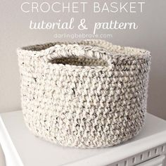 Hello everybody! A few weeks ago I had a fabulous idea for what to do with all my random piles of half-used-yarn (that is slowly taking over my house), make it into the cutest little basket! I
