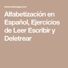 Alfabetización en Español, Ejercicios de Leer Escribir y Deletrear Sistema Solar, Spanish, Math Equations, Diy, Ideas, Vestidos, Read And Write, Exercises, Medicinal Plants