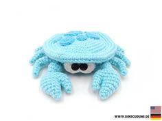 Small crab - amigurumi crochet pattern #crochetpattern #pattern #crochet #amigurumipattern #amigurumicrabpattern #crochetpatterncrab