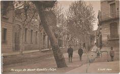 ARENYS DE MUNT RAMBLA JALPI 1926. POSTAL FOTOGRÁFICA