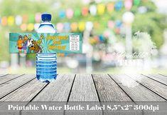 Scooby Doo water bottle label Scooby Doo bottle label Scooby