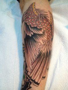 red tail hawk tattoo - Google Search