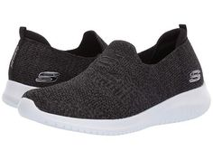 Skechers Ultra Flex - Harmonious Skechers Sneakers, Sketchers Shoes Women, Fabric Shoes, Fashion Socks, Branded Bags, Black Shoes, Women's Shoes, Luxury Shoes, Art