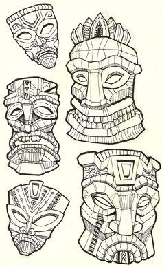 Tiki_Masks_by_NajMeTender.jpg (900×1481)