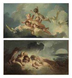 Jean-Honoré Fragonard (Grasse 1732-1806 Paris) Le Jour (Day); La Nuit (Night)  Price realised  USD 3,666,500 Estimate USD 2,000,000 - USD 3,000,000