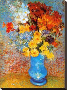 Vase of Flowers, c.1887 Print by Vincent van Gogh at Art.com