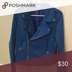 Blue jacket Such a nice fit, no size but fits 6-10 Jackets & Coats