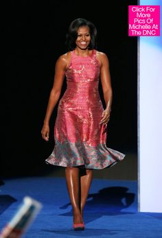 Michelle Obama Wows In Tracy Reese Dress At DNC - HollywoodLife.com