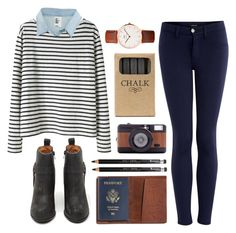 """Stripes"" by hanaglatison ❤ liked on Polyvore featuring Wood Wood, H&M, J Brand, Jeffrey Campbell, TOMS, Jayson Home, Lomography and Rimmel"