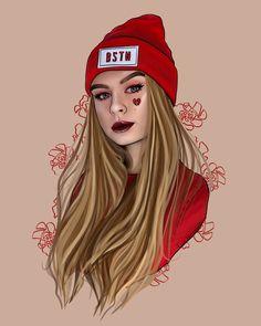 Cute Girl Drawing, Cartoon Girl Drawing, Girl Cartoon, Cartoon Art, Girly Drawings, Cool Drawings, Pencil Art Love, Tmblr Girl, Instagram Cartoon