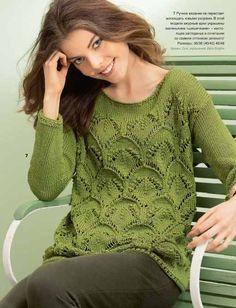 Пуловер для женщин - Вязание спицами для женщин - Каталог файлов - Вязание для детей